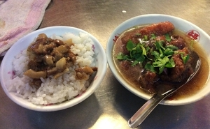 基隆廟口夜市,紅焼鰻焿,魯肉飯